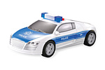 Машина спецтехника Police Car light 1:28 со светом и звуком - КВГ0047
